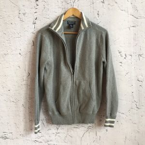 POLO JEANS GREY ZIP UP SWEATER M